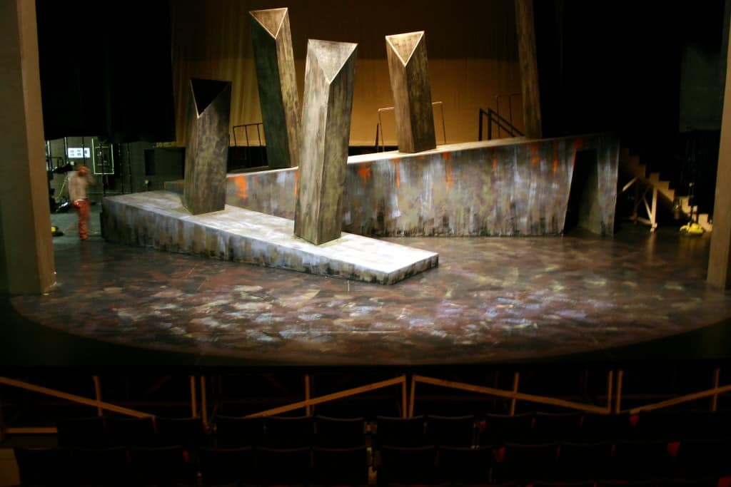 This is a photo of the set provided by Keene State.