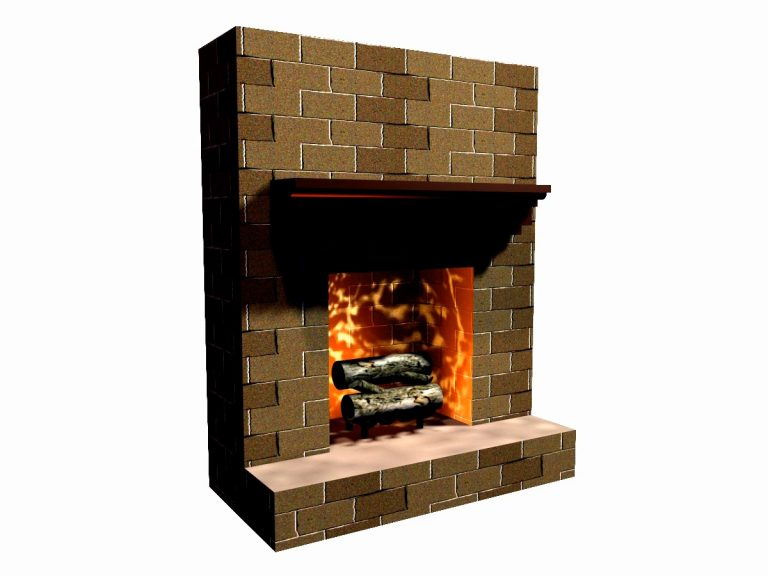A Simple Fireplace Onstage