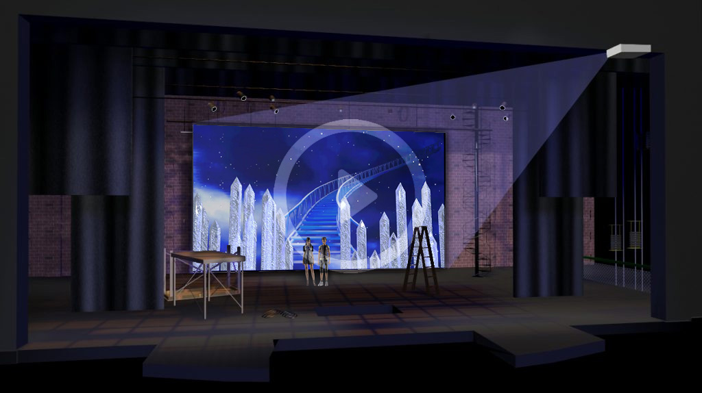 Stage lights and cyc placement have enormous effect on the quality of stage projections.