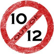 Logo for the No More Ten out of Twelves movement